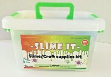 Craft Supplies Kit 77 Pack for DIY Slime Making and Craft - Beads, Glitter jars
