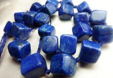 Amazing AAA Grade 100% Natural Matte Finish Cubicle Shaped Lapis Lazuli Beads