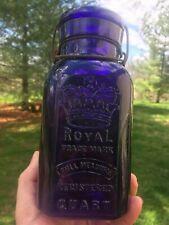 Purple Royal Fruit Jar with Crown Quart
