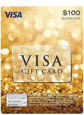 $300 Visa Money/Cash Card Activated THREE $100 Cards FREE SHIPPING 'Buy Today'