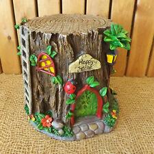 Secret Garden Miniature Fairy Tree Stump House Pixie Forest Log Happy Home