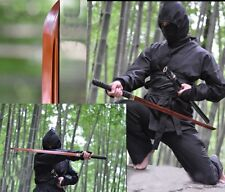 Red Folded Steel Japanese Ninja Sect Shrine Samurai Full Tang Sword Katana Sharp