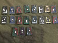 lot de 19 passants d'épaules 12éme régiment de cuirassiers, cavalerie