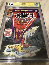 X Men 44 CGC 8.0 SS Stan Lee Sign 1968 1st Red Raven Origin Iceman