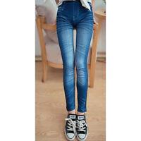 Leggings pantaloni effetto jeans leggins pantacollant donna JEANS Jeggings