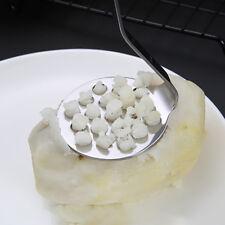 Kitchen Stainless Steel Smooth Potato Masher Ricer Presser Utensil 6A