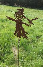 VOGELSCHEUCHE 60x52cm Rost Edelrost Metall Figur Gartenstecker Halloween 120cm