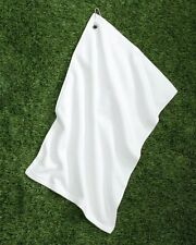 "Carmel Towel Company Microfiber Golf Towel C1518MGH White 15"" x 18"""