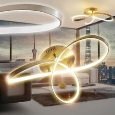 LED Lámpara de techo diseño elegante metal color níquel opaco dormitorio pasillo