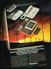1983 Panasonic telephones answering machines wire vintage photo Print Ad ads29