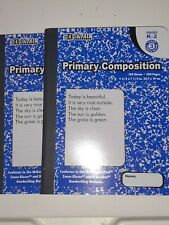 2pk-Bazic #5087 100Sheets-200Pages Primary Ruled Blue Marble Comp. NoteBook