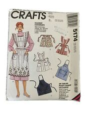 McCall's 5174 Aprons Chef Smock Vintage Inspired Housekeeper 1990s Pattern