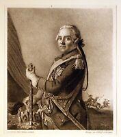 """G.Wolff / J.E.Liotard - Portrait """"Graf Moritz von Sachsen"""" Lithographie um 1850"""