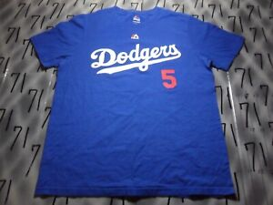 Large kids Corey Seager #5 Majestic Brand Dodgers T Shirt