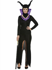 Maleficent Ladies Womens Halloween Evil Queen Fancy Dress Costume One Size 10-14