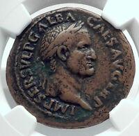 GALBA 68AD Rare Authentic Ancient Rome Genuine Original Roman Coin NGC i78521