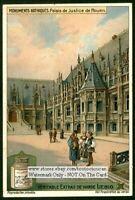 Palace Of Justice Rouen France Palais c1915 Trade Ad  Card