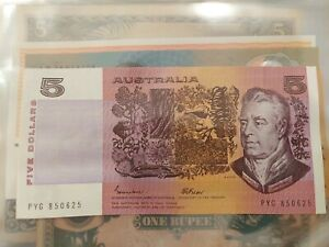🔥 AUSTRALIAN $5 FIVE DOLLAR PAPER BANK NOTE JOHNSTON/FRASER CIRCULATED COND 🔥