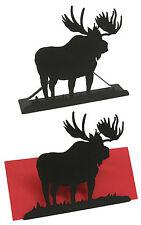 Moose Letter Holder Black Metal