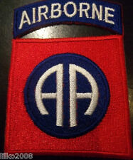 82ND AIRBORNE DIVISION/ ALL AMERICAN, EMBROIDERED PATCH, FREE UK POSTAGE,USA