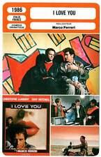 FICHE CINEMA : I LOVE YOU - Lambert,Mitchell,Soral,Ferreri 1986