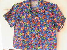 UNDERWATER KIDS! Boy OR Girl button-up shirt Size 3/4 noveltyBUTTONS 100% cotton