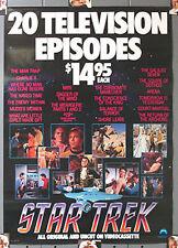"1984 Classic Star Trek 20 Episodes on Video Promo Poster- 23""x32"" (MFPO-11)"