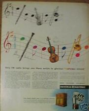 1944 GE Radio Musical Instruments Goodman/Dorsey Art Ad