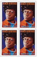 US 4856 Black Heritage Shirley Chisholm forever block (4 stamps) MNH 2014