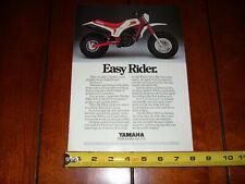 1986 YAMAHA BIG WHEEL 200 - ORIGINAL AD