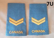"""Canadian Forces Corporal Rank """"Canada"""" Shoulder Slip Ons Pair Blue RCF"""