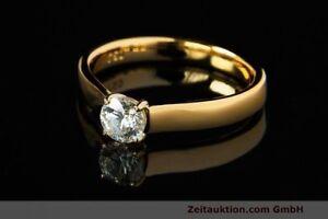 Ring Milano 18k Gold Solitär Diamant Brillant 0,53 CT WERT ca. 4.976,- EURO