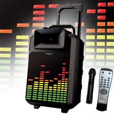 LED Karaoke Lautsprecher Musik Party Funk Mikrofon Anlage MP3 Bluetooth USB Box