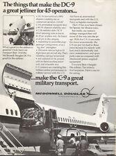 1974 vintage aircraft AD McDonnell-Douglas C-9 Military Transport Plane 061516