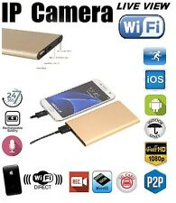 WIFI Spy Hidden Camera Power Bank Motion Detection Night Vision 1080P DVR (GOLD)