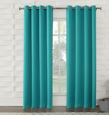 2 PANELS SOLID LINED BLACKOUT THERMAL SILVER GROMMET WINDOW CURTAIN DRAPE K60