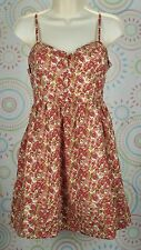 Jessica Simpson Women Floral Spaghetti Strap Summer Dress Size M Medium