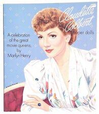 NEW Vintage 1993 CLAUDETTE COLBERT Paper Doll (Marilyn Henry) Booklet