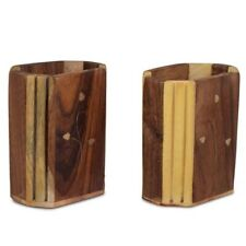 Amazing Cutlery Holder/Pen Stand Wooden Set of 2 ~Height 10 cm  Width - 8 cm ~