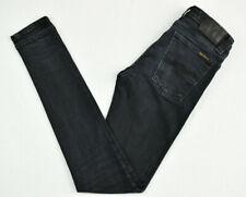 Nudie Jeans Homme Skinny Lin org. anneau noir en coton organique Stretch N834 W26 L32
