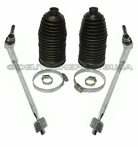 Tie Rod Rods Inner + Outer ASSEMBLY + RACK BOOT KIT for PORSCHE CAYENNE SET 4