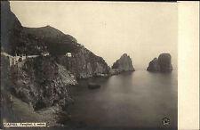 Capri Italien Italia Golf von Neapel AK ~1900 Faraglioni Klippen Felsformationen
