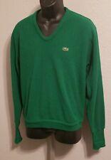 Vintage Izod Lacoste Mens V-neck Sweater Green Large UEC