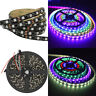 Black PCB 5M 5050 SMD WS2811 RGB Dream Color 300 LED Strip Light Waterproof 60/M