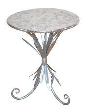 Beistelltisch Rund Couchtisch Metalltisch Deko Design Farbe: Antik-Silber