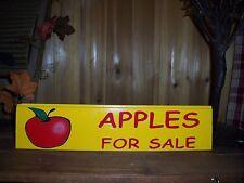 APPLE WOODEN SIGN APPLES FOR SALE FRUIT GARDEN FUNNY FLEA FARMERS MARKET BAR PUB