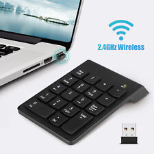New 18 Keys 2.4GHz Wireless USB Number Pad Numeric Keypad Keyboard For Laptop PC