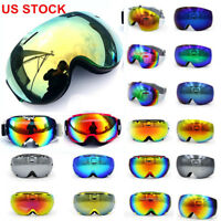 Frameless Snowboard Snowmobile Professional Ski Goggles Anti Fog Double-Lens US