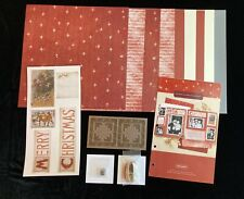Ctmh Merry Xmas Present Paper Pack Card Kit Scrapbooking Stamps Stickease Acc's