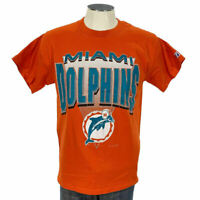VTG 90s Miami Dolphins Logo 7 T Shirt M Orange 1993 NFL Football Mens